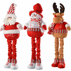 image is loading free standing santa snowman reindeer christmas decoration with