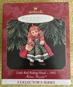 1997-HALLMARK-LITTLE-RED-RIDING-HOOD-1991-MADAME-ALEXANDER-CHRISTMAS-ORNAMENT