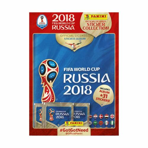 Fifa World Cup Russia 2018 Panini Sticker Collection Starter Album Pack