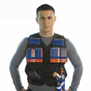 Tactical Vest Kids Toy Gun Clip Jacket Foam Bullet Ammunition Holder For Nerf b