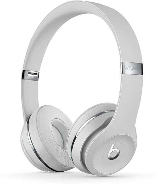 Beats Solo 3 Wireless On-Ear Headphones White Satin Silver New Sealed Box