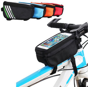 For Samsung Galaxy S9 / LG G7 Bike Bicycle Handlebar Frame Tube Bag Pack Pouch