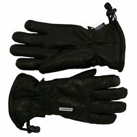 Seirus Womens Ski Gloves Hide-out Leather Black