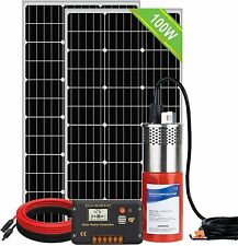 Solar Well Pump Kit For Watering200w Solar Panelsubmersible 24v Water Pump