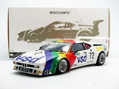 Minichamps BMW M1 BMW FRANCE ZOL AUTO Le Mans 1981 #72 1/18 LE of 504 Brand New!