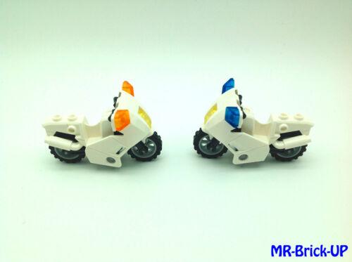 LEGO ® 7235 Police Motorcycle-MOTO Blanc 2 St l288 Police City Basic