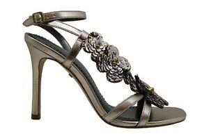 Coach-Womens-Bianca-Leather-Open-Toe-SlingBack-Classic-Champagne-CHP-Size-9-0