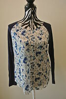 Nwt.ladies' French Connection Multi Color Long Sleeve Blouse;s