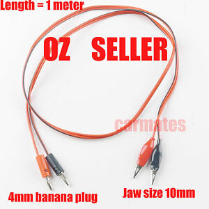 3Extension Test Leads for Multimeter banana plug Clips alligator 1 Meter soft OZ