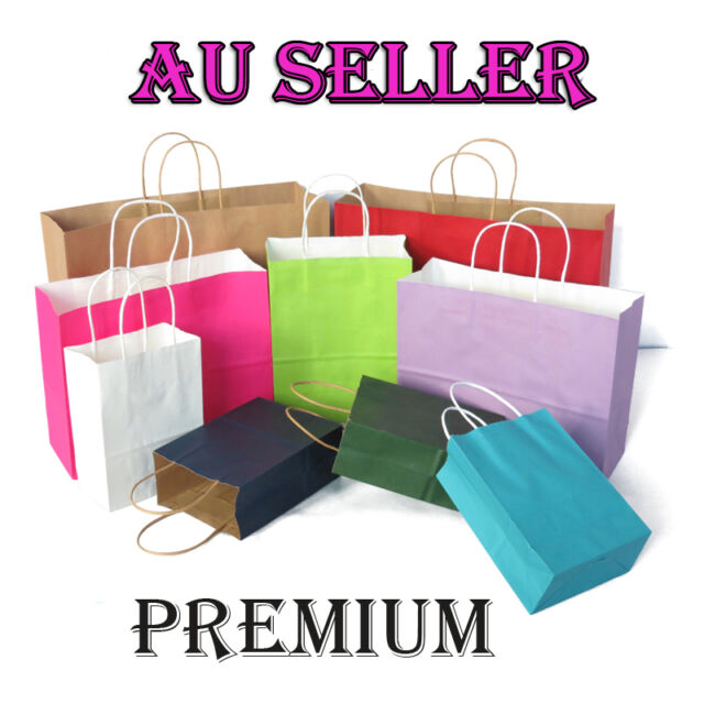 Bulk 10-100pcs Kraft Paper Bag Gift Carry Shopping Bags Wedding Party Gift Bags