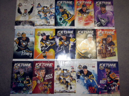 Pittsburgh Penguins 2016-17 Complete Season Icetime Magazine 53 Game Program Set