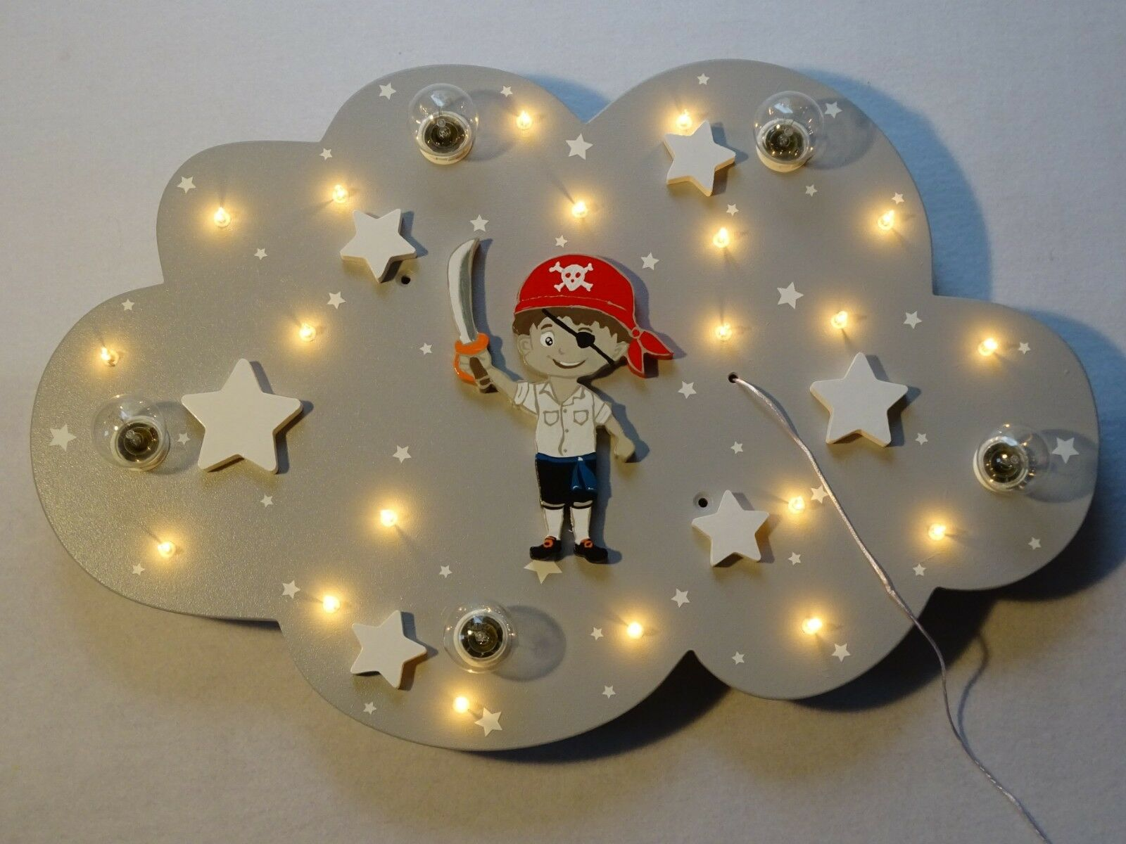 Lampe pour Enfants Plafonnier Luminaire   Peter Pirate   Fait Main et