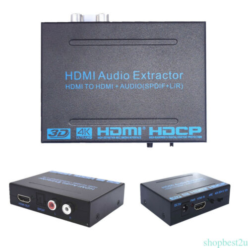 4K2K 1080P HDMI to HDMI+Audio Extractor Converter Spdif+RL 5.1CH2CH ARC MHL