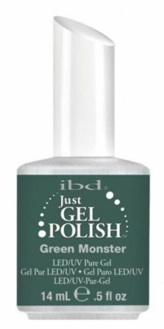 IBD Just Gel Soak Off UV LED Gel Nail Polish Lacquer Green Monster 56564 14ml