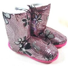 Blazin Roxx Youth Girls Slipper Boots Cross Pink Trim Zebra 5757201