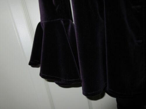 Vintage Design Purple Unique giacca Ladies Button Custom Velour 6 8Tqgqpaw