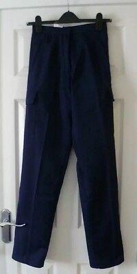 BNWT Haywood TL40 Work Nurses Carer  Trousers in Navy Size 18 x 29L