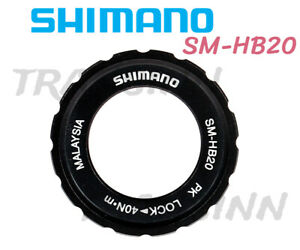 SHIMANO SM-HB20 15//20mm Axle Hub Centerlock Rotor Lockring by