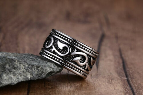 Valknut Irlandais Celtics Odin/'s symbole de Norse Viking Argent Anneau Gothique Punk