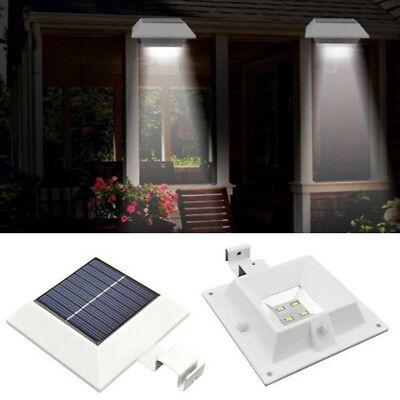 Solar Powered Practical Modern Outdoor Garden Wall Fence Led Gutter Light White 714367589848 Ebay