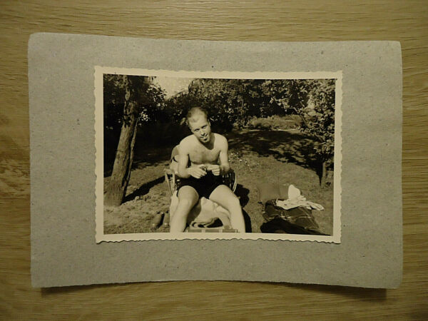 """am See"": Alte Sw-fotografie, Sw-foto, 50/60-er Jahre, Badesee, Natur, Sommer!"