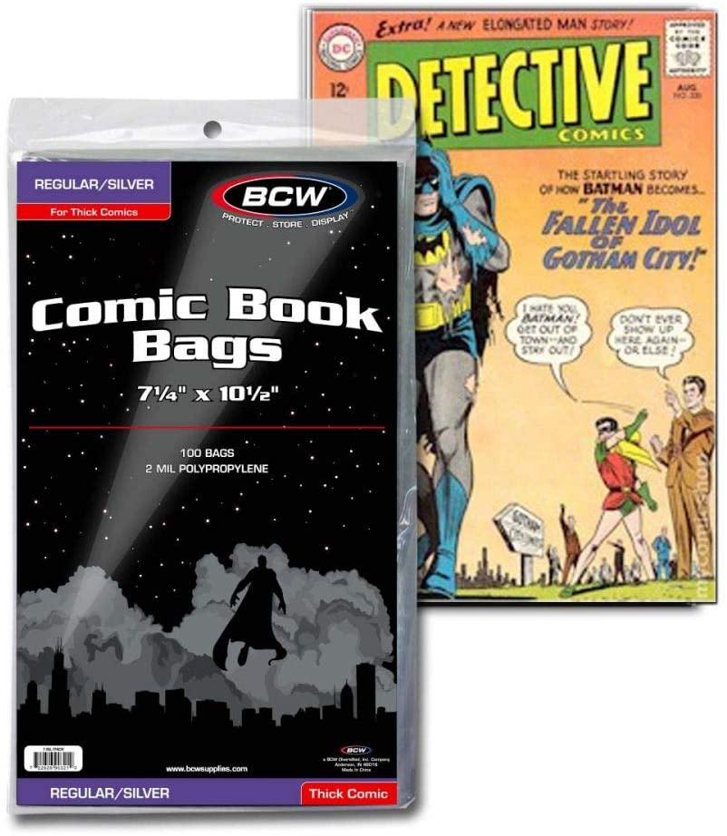 "ComiCare Golden Age 2-Mil Polypropylene Comic Book Bags 100 7-3//4/"" x 10-1//2/"""