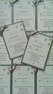 25 winter themed save the date cards handmade personalised ebay
