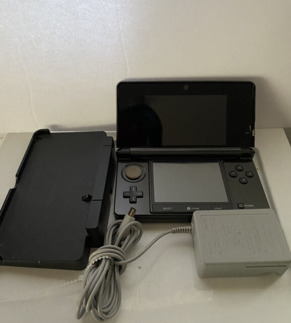 Nintendo 3DS Handheld System (Black) With Charger