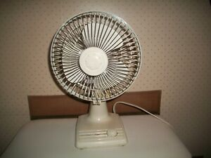 "VTG HOLMES AIR 14"" Oscillating 2 speed Fan Table-Top #HAOF-7 Works Great~CLEAN"