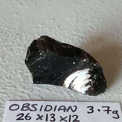 Natural Stones Black Volcanic Glass Lava Rock Loose Crystals R40D Set of 3 Rough Gemstones Raw Unpolished Rocks /& Minerals Obsidian