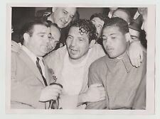 "LOU COSTELLO JOE LOUIS & MAX BAER 1940 ORIGINAL VINTAGE 6""X8"" WIRE PHOTO 7/2/40"