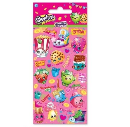 6 Sheets Party Pack Birthday Loot Bag Fillers Licensed Character STICKERS 1C