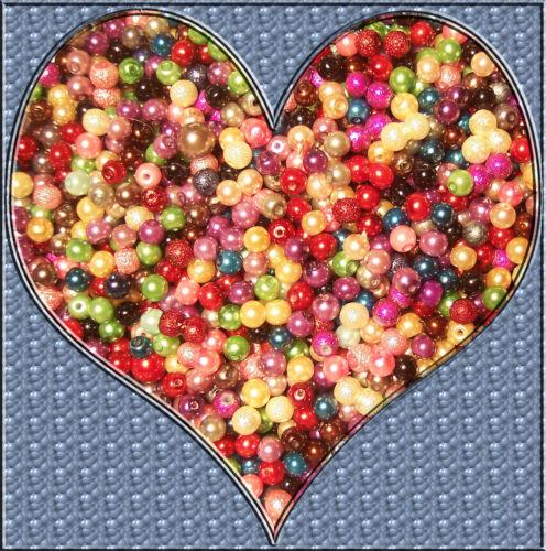 100 Petits Coloré Glaswachsperlen 4 mm Neuf Coloré Mix Cire Perles Chaînes Bricolage