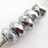 100 New Crystal Glass Bead Fit European Bracelet 150987
