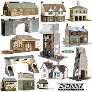 Details about Superquick 1:72 HO / OO Buildings Series A, B & C Building  Kits - Model Railway