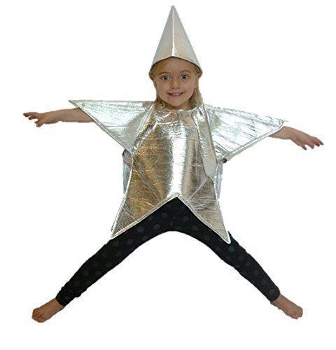 Silver star costume garçons filles noël nativité déguisement