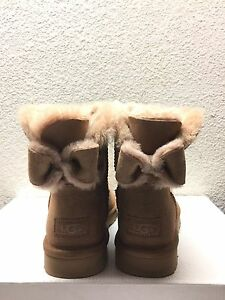 Image is loading UGG-NAVEAH-MINI-BAILEY-BOW-CHESTNUT-WOMEN-BOOTS-