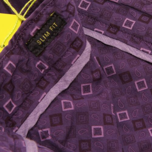 4068W pantalone uomo ETRO purple cotton trouser men