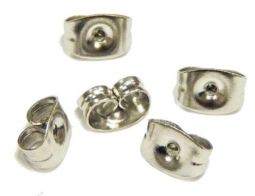 40 ohrmutter Acier Inoxydable Bouchon pour boucles d/'oreille Boucle d/'oreille stopper 6mm Best m228