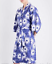 Size Flower Print Robe Cotton Blue 1 Margaux Chalmers wBx8gqYI