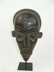 Maske - Holz - PWO-Chokwe-Maske-MWANA- D.R.Kongo - Chokwe - Kongo Afrika Ständer