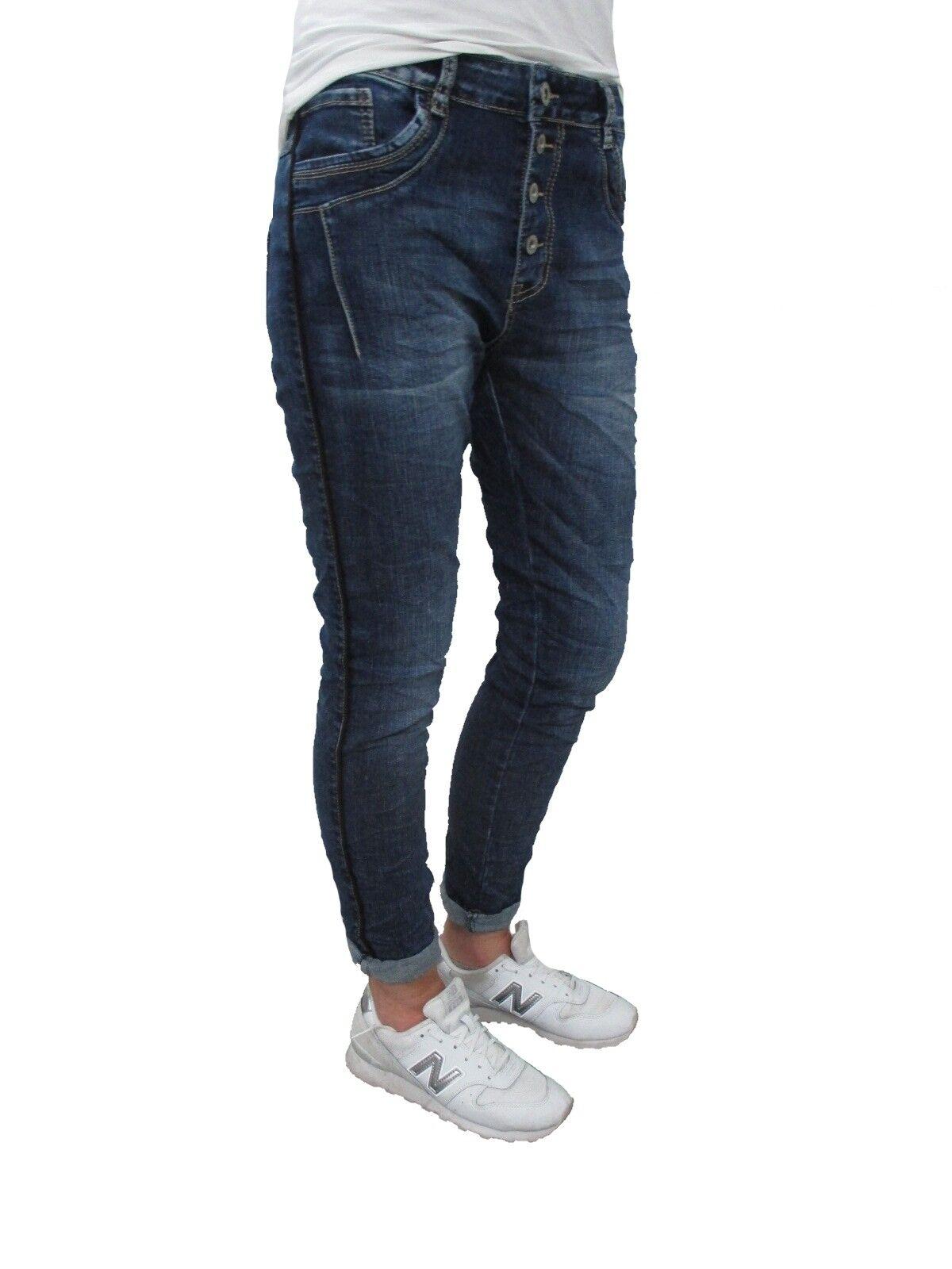 Karostar Lexxury Stretch Baggy Boyfriend Jeans blacke Seitenstreifen