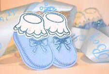 10 x RECUERDOS BABY SHOWER ZAPATITOS AZUL BLUE BABY BOOTIES FAVORS FOAM DECOR