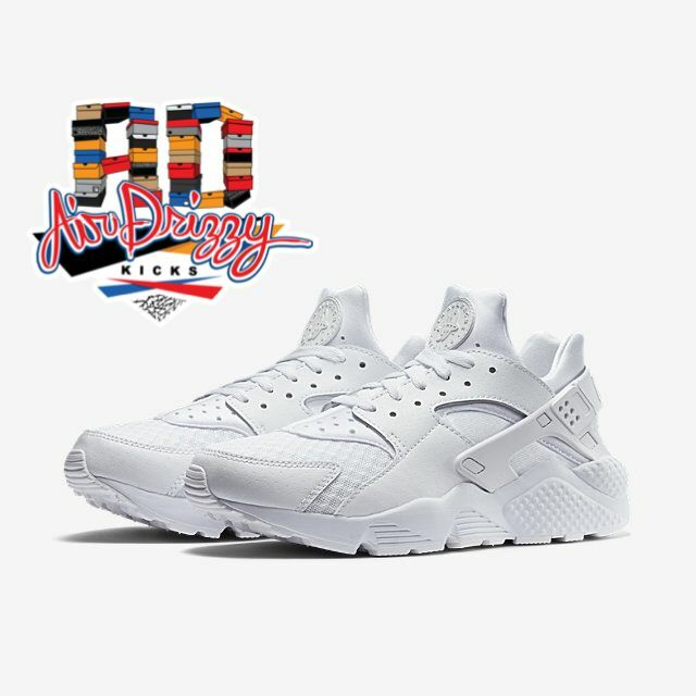 NEW Nike Air Huarache Triple White Pure Platinum 318429-111 low Men DS all