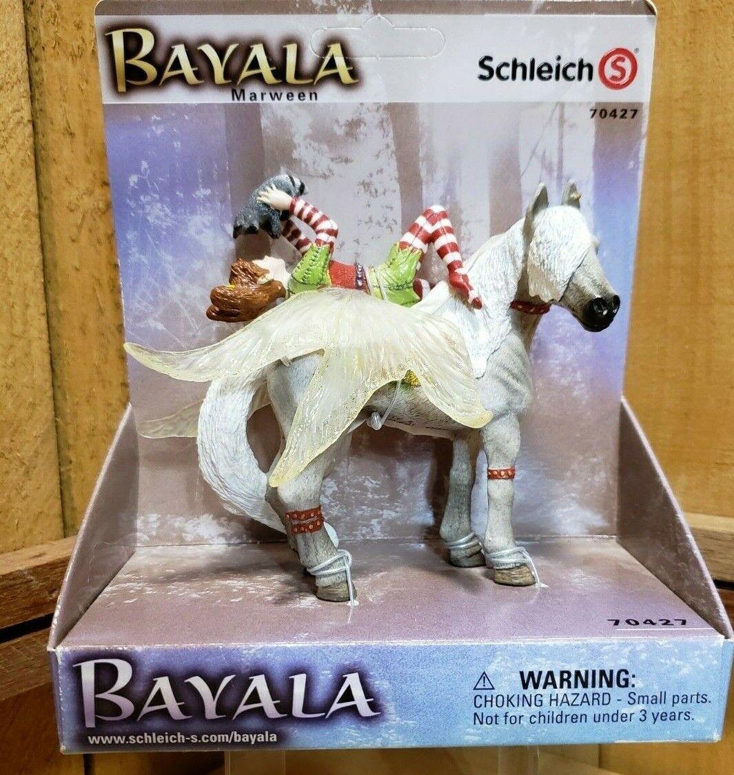 Schleich Bayala  Marween Fairy On Horse Horse Horse Holding Raccoon 70427 Elf Fairy Horse a01028