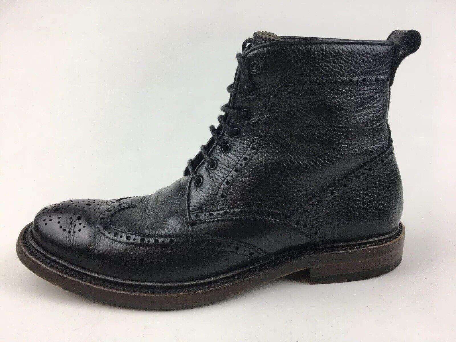 Aquatalia Forrest con guijarros Nappa Con Cordones botas para hombre M, De Cuero Negro 2025