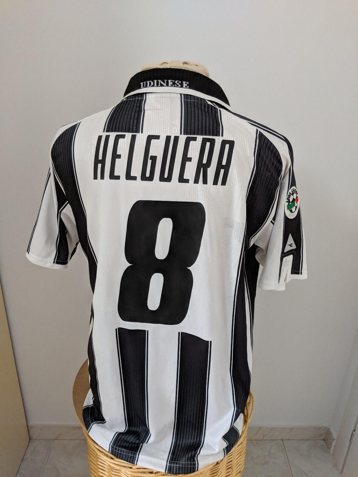 Maglia Udinese 2001 02 Nr 8 Helguera match worn shirt jersey camiseta Espana