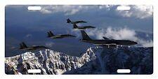 USAF Custom License Plate U.S. AIR FORCE Emblem Sky & Planes Version