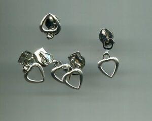 not hidden Lot of 20 Heart-shaped Aluminum #5C Zipper Sliders for nylon