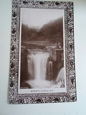 G199 Vintage Real Photo Postcard WATERFALL JESMOND DENE B.F. 302.9